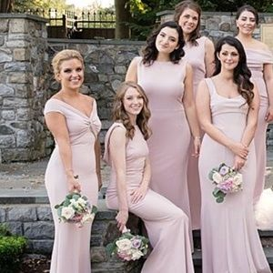 5beae02beae Katie May Dresses - Katie May Liu Bridesmaid Dress in Dusty Rose